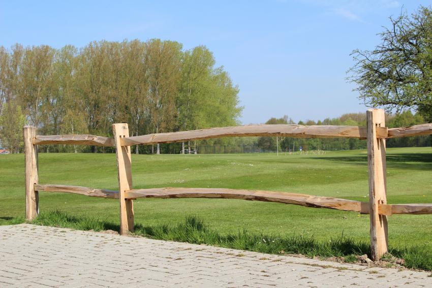 cloture bois post rail classique
