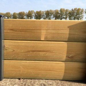 Clôture bois et métal