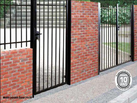 portail grille barreaudée
