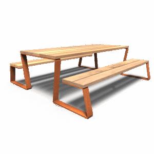 table de jardin bois nord